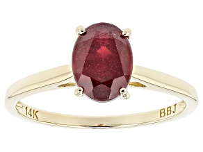 Red Ruby 14k Yellow Gold Ring 1.59ct