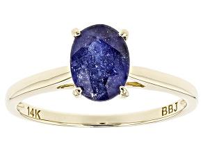 Mahaleo Sapphire 14k Yellow Gold Ring 1.44ct