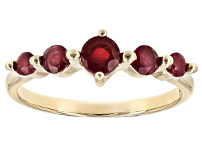Mahaleo ® Ruby 10k Gold 5-Stone Ring .63ctw