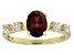 Red Garnet 10k Yellow Gold Ring 1.64ctw