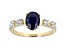 Blue Sapphire 10k Yellow Gold Ring 1.54tw