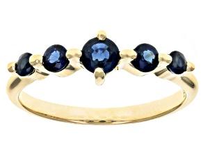Blue Sapphire 10k Yellow Gold Ring .70ctw