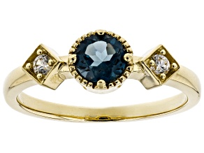London Blue Topaz 14k Gold Ring .67ctw