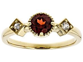 Red Garnet 14K Gold Ring .72ctw
