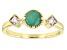 Green Sakota Emerald 14K Gold Ring .57ctw