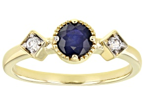 Blue Sapphire 14K Gold Ring .65ctw