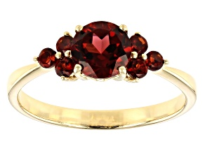 Red Garnet 10k Yellow Gold Ring 1.16ctw