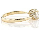 White Zircon 10k Yellow Gold Ring 1.25ctw