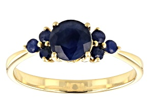 Blue Sapphire 10k Yellow Gold Ring 1.08ctw
