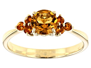 Yellow Citrine 10k Yellow Gold Ring .83ctw
