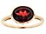 Red Garnet 10k Yellow Gold Ring 2.98ct