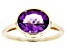 Purple Amethyst 10k Yellow Gold Ring 1.96ct