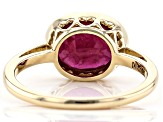 Red Mahaleo® Ruby 10k Yellow Gold Ring 2.94ct