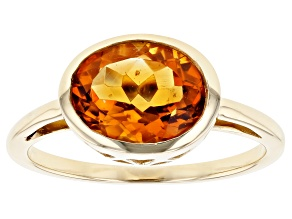 Golden Citrine 10k Yellow Gold Ring 1.96ct