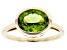 Green Peridot 10k Yellow Gold Ring 2.44ct