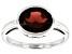 Red Garnet Rhodium Over 10k White Gold Ring 2.38ct