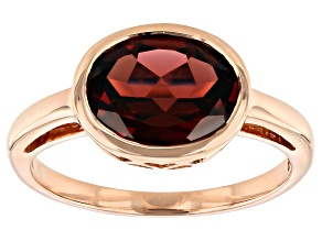 Red Garnet 10k Rose Gold Ring 2.38ct
