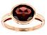 Red Garnet 10k Rose Gold Ring 2.38ct