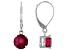 Red Mahaleo® Ruby Rhodium Over 10k White Gold Dangle Earrings 3.54ctw