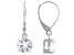 White Zircon Rhodium Over 10k White Gold Dangle Earrings 3.06ctw