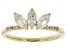 White Zircon 10k Yellow Gold Ring 1.04ctw