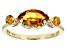 Yellow Citrine 10k Yellow Gold 3-Stone Ring 1.02ctw