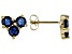 Blue Sapphire 10k Yellow Gold Stud Earrings 1.24ctw