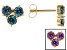 Blue Lab Created Alexandrite 10k Yellow Gold Stud Earrings 1.64ctw