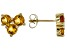 Golden Citrine 10k Yellow Gold Stud Earrings 1.28ctw