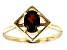 Red Garnet 10k Yellow Gold Ring .80ctw