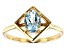 Blue Aquamarine 10k Yellow Gold Ring .59ct