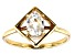 White Zircon 10k Yellow Gold Ring 1.07ct