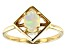 Multi-Color Ethiopian Opal 10k Yellow Gold Ring .38ct