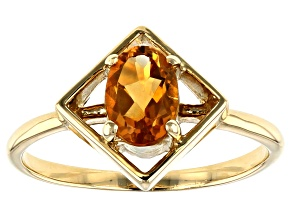 Yellow Citrine 10k Yellow Gold Ring .63ct