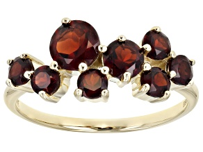 Red Garnet 10k Yellow Gold Ring 1.57ctw