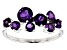 Purple African Amethyst Rhodium Over 10k White Gold Ring 1.06ctw
