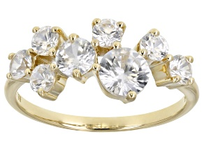 White Zircon 10k Yellow Gold Ring 1.89ctw