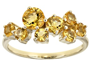 Yellow Citrine 10k Yellow Gold Ring 1.12ctw