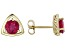 Red Mahaleo® Ruby 10k Yellow Gold Stud Earrings 1.94ctw