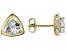 Blue Aquamarine 10k Yellow Gold Stud Earrings 1.21ctw