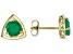 Green Sakota Emerald 10k Yellow Gold Stud Earrings 1.19ctw