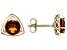 Orange Madeira Citrine 10k Yellow Gold Stud Earrings 1.36ctw