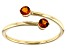 Orange Madeira Citrine 10k Yellow Gold Bypass Ring .17ctw