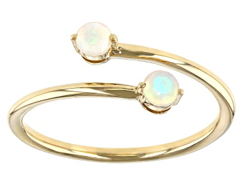 Details about  /Lovely Yellow Ethiopian Opal Gemstone Ring 1.08 Ct Round 10k White Gold Jewelry