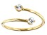 White Zircon 10k Yellow Gold Bypass Ring  0.29ctw