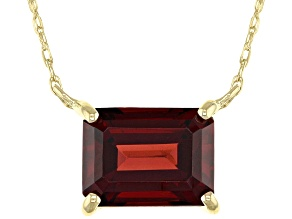 Red Garnet 10k Yellow Gold Necklace 1.57ct