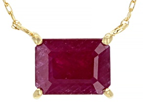 Red Mahaleo® Ruby 10k Yellow Gold Necklace  1.87ct