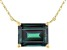 Teal Lab Created Alexandrite 10k Yellow Gold Necklace 1.70ct