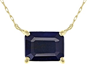 Blue Sapphire 10k Yellow Gold Necklace