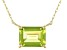 Green Peridot 10k Yellow Gold Necklace 1.36ct